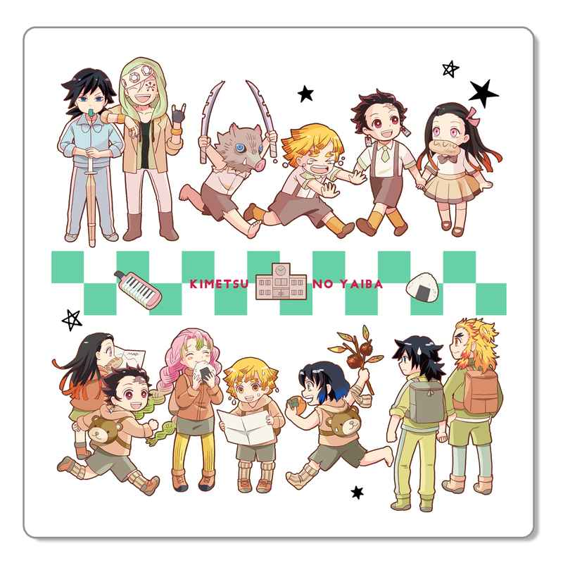 キメ学小等部ミニタオル チェッカーグリーン [シノバズ(シノ)] 鬼滅の刃