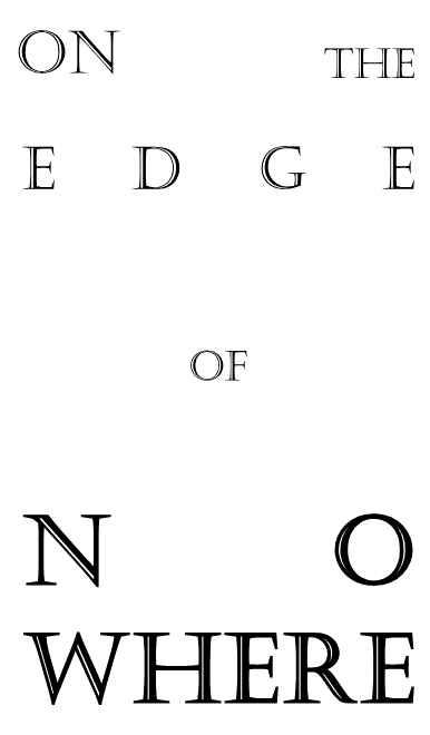 On the edge of Nowhere [NNBV(acqua)] Fate/Grand Order