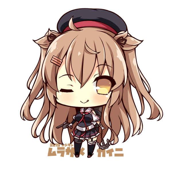 駆逐艦村雨改二 SDキャラアクリルキーホルダー [むじたん(つむじぃ)] 艦隊これくしょん-艦これ-