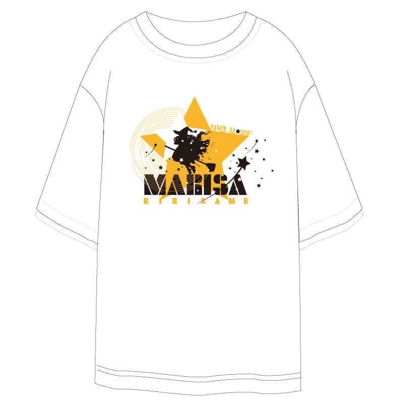 東方Project-霧雨魔理沙-白色Tシャツ-XLサイズ【T20033W-XL】