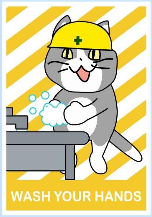 現場猫手洗い啓発ステッカー [Japanese Internet memes(としあき)] ふたば☆ちゃんねる