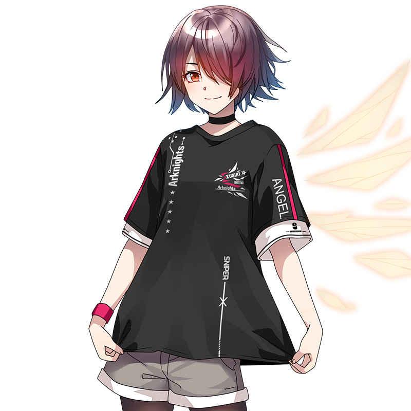 アークナイツ-エクシア -黒色Tシャツ-XLサイズ【T20021B-XL】  [Moe(M.G.F)] アークナイツ