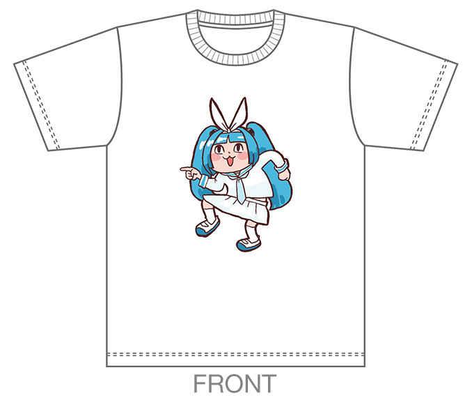 究極!ニパ子ちゃんTシャツ【指さしニパ子 Ver.】【LLサイズ】 [KASOKU(KASOKU)] 擬人化