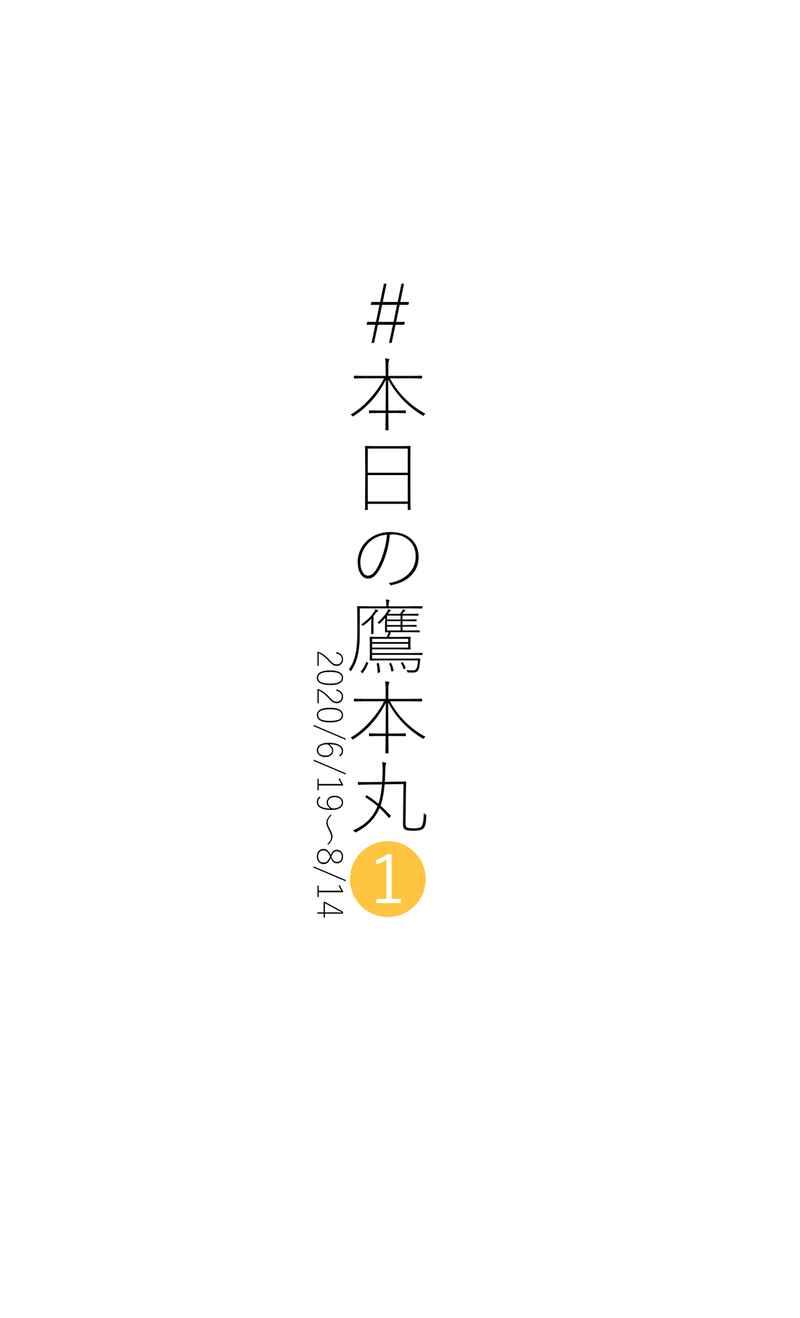 #本日の鷹本丸1 [えびせん(横川)] 刀剣乱舞