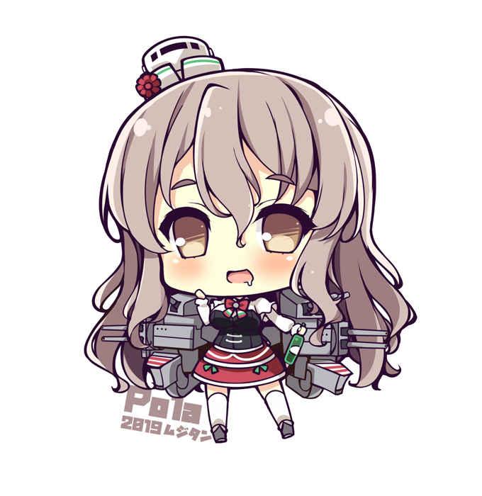 重巡洋艦ポーラ SDキャラアクリルキーホルダー [むじたん(つむじぃ)] 艦隊これくしょん-艦これ-