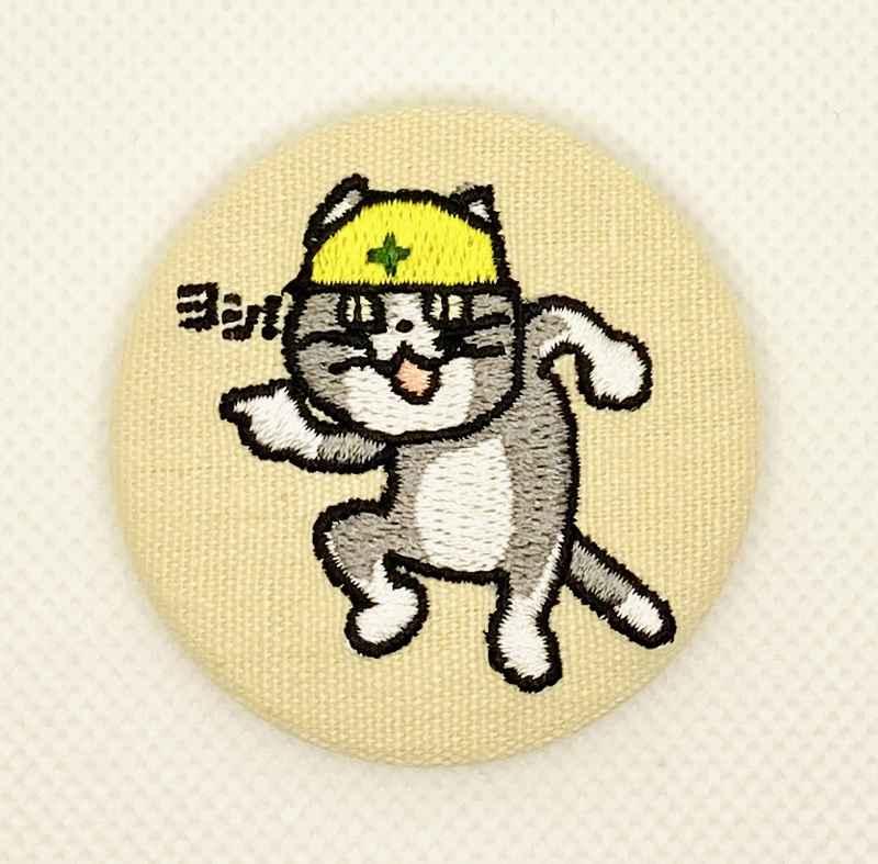 現場猫刺繍缶バッジ [Japanese Internet memes(としあき)] ふたば☆ちゃんねる