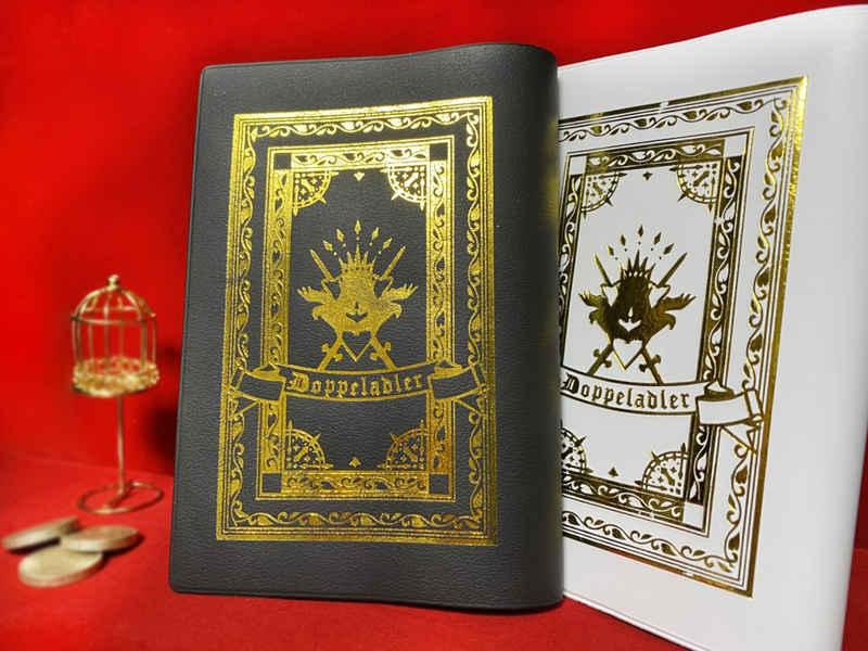 双頭の鷲イメージ箔押しブックカバー黒 [C.Ck(hina)] ドラゴンクエスト