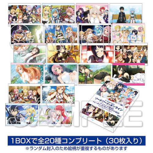 ソードアート・オンライン ゲームシリーズ5周年記念 トレーディングメモリーブロマイド BOX