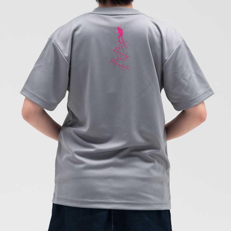 『山と食欲と私』Tシャツ <単独登山女子>グレー L