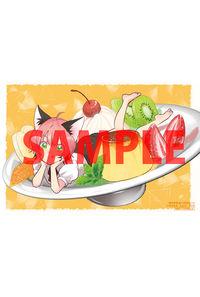 【特典】描き下ろしイラストカード(異世界駅舎の喫茶店 5)