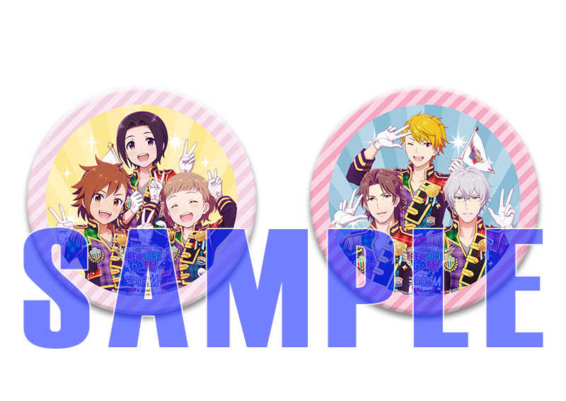 (BD)【特典】(もふもふえん、S.E.M)デカ缶バッジ2種セット((BD)THE IDOLM@STER SideM 4th STAGE ~TRE@SURE GATE~ LIVE Blu-ray【Complete Box(初回生産限定版)】)