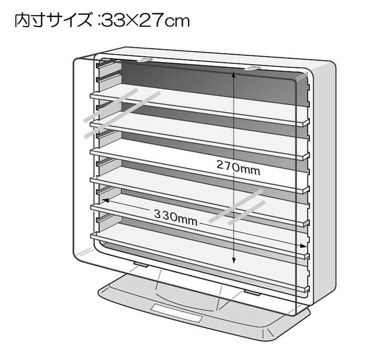 伊勢藤 コレクションケース ST606 (スタンドタイプ) クリアブラック