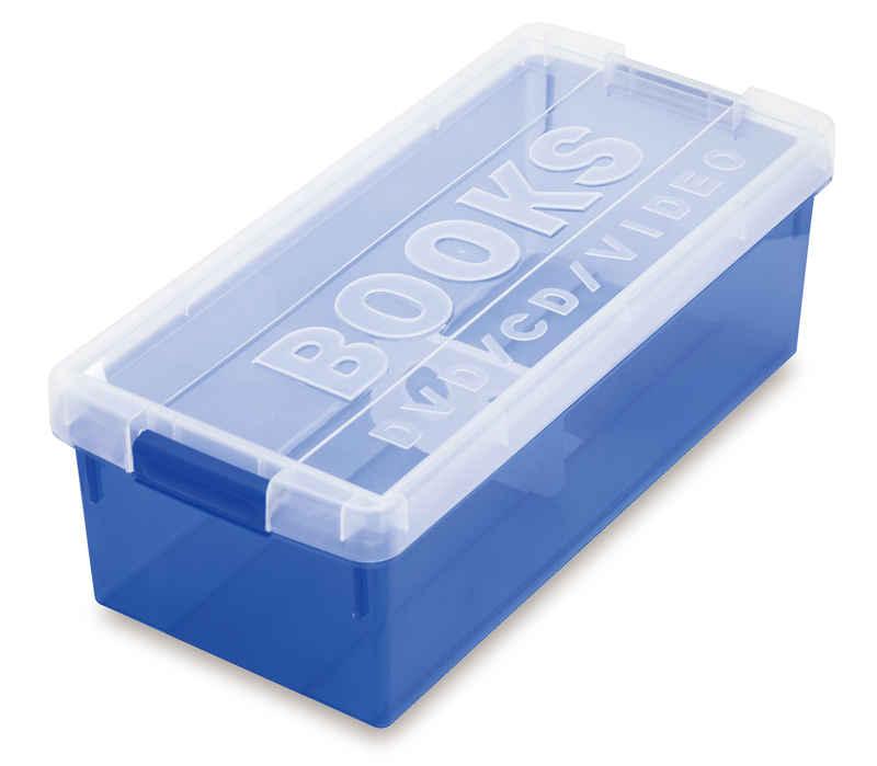 ブック&メディアケース ブルー
