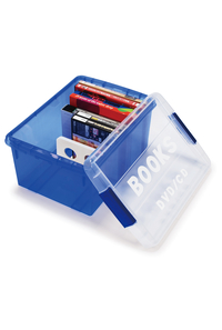 ブック&メディアケース ミニ ブルー