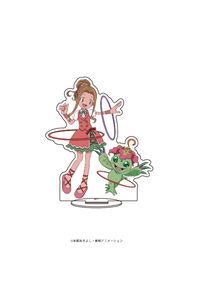 A3 キャラアクリルフィギュア「デジモンアドベンチャー」07 太刀川ミミ&パルモン