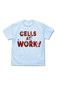 コスパ はたらく細胞 血小板 Tシャツ LIGHT BLUE-L