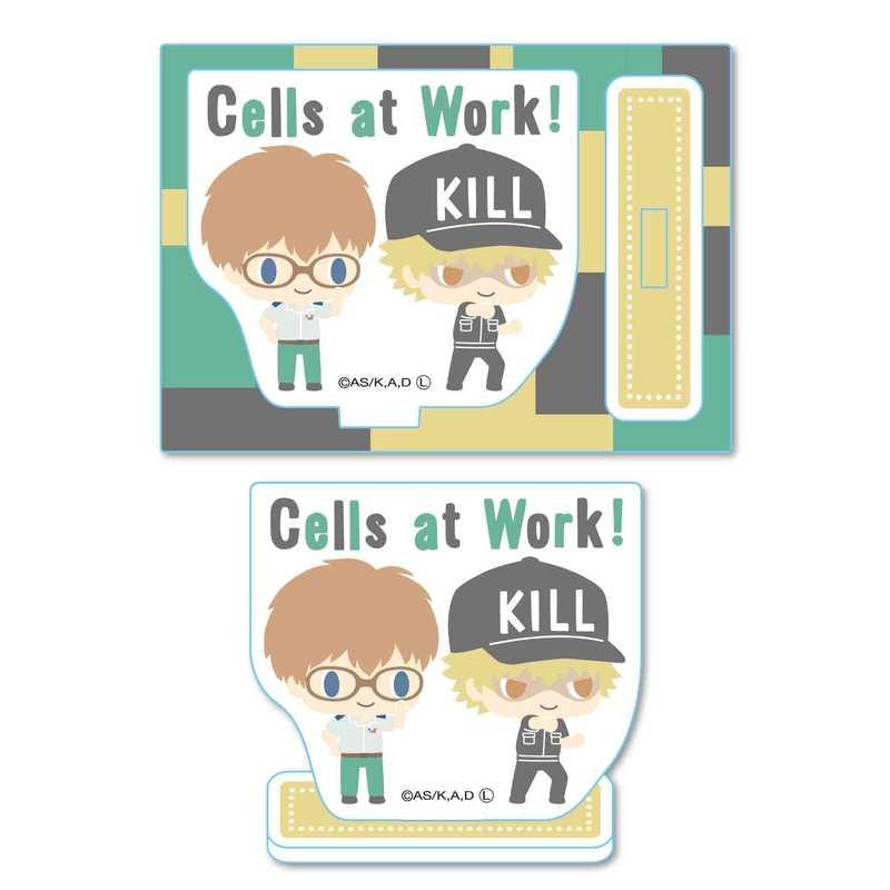 ベルハウス ミニスタンド はたらく細胞 -Design produced by Sanrio- ヘルパーT細胞&キラーT細胞