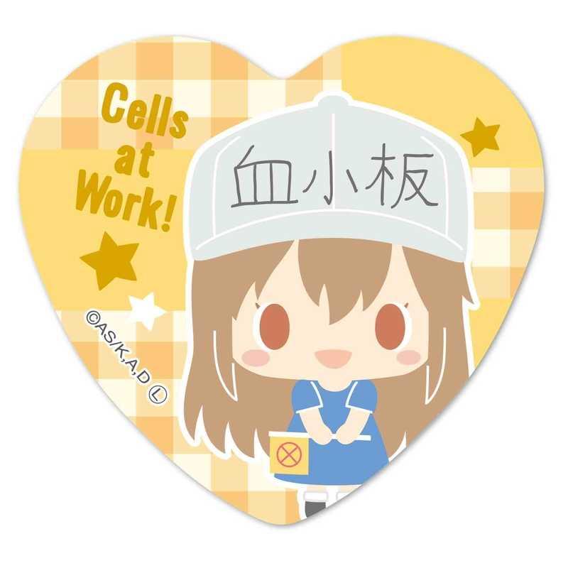 ベルハウス ハート缶バッジ はたらく細胞 -Design produced by Sanrio- 血小板